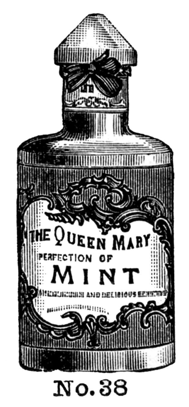 Vintage Clip Art - Fancy Cosmetic Bottles - The Graphics Fairy