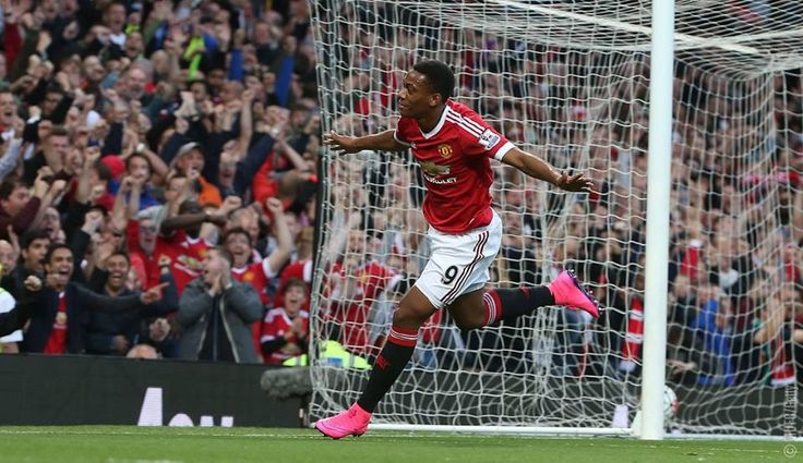 Anthony Martial scores In front of the Stretford End