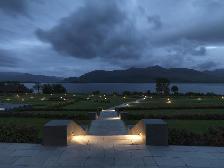 The Lobby Terrace at The Europe Hotel & Resort by night  www.theeurope.com - Killarney, Ireland