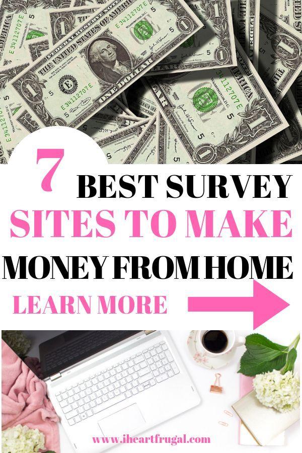 How I Earn Extra Money: 7 Best Survey Sites | Making money | Money