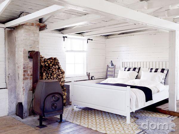 Biele posteľné obliečky Linblomma,
