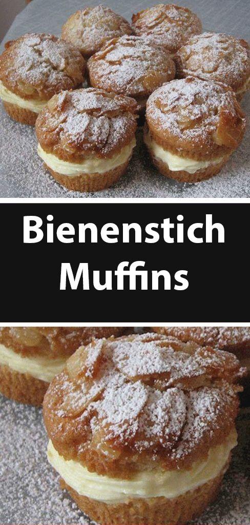 Bienenstich Muffins   – Einfache Rezepte