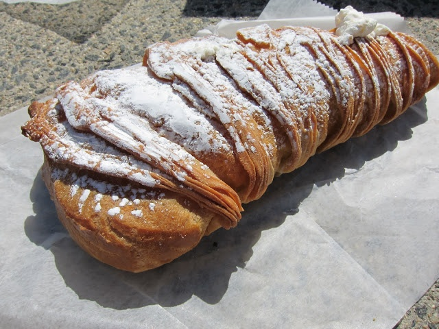 """Mike's Pastries, Boston Mass. """"Lobster Tail""""  YUMMO"""
