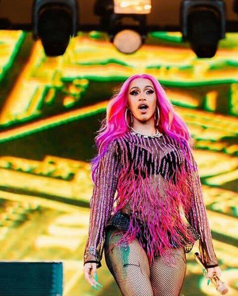 Cardi B rocks a color-block suit for Vogue Fashion of