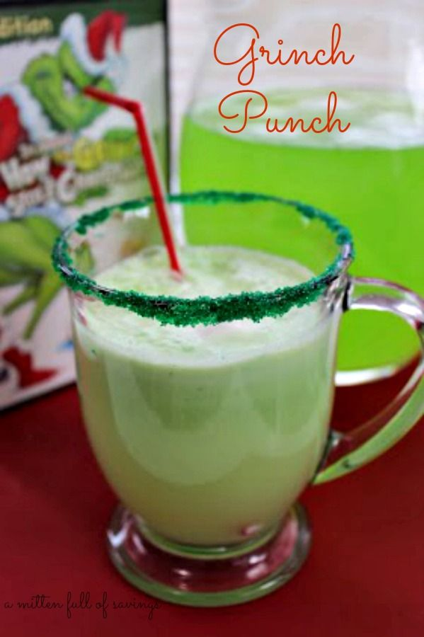 Grinch Punch {recipe} #grinchdecorations #howthegrinchstolechristmas http://www.amittenfullofsavings.com/grinch-punch-recipe/