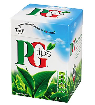 PG Tips. I have been addicted for years, but used to have to buy it at a British Food store, lucky for us, its available at most grocery stores now!
