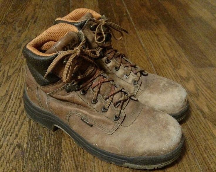 Timberland Pro Series Brown Leather Steel Toe Boots Size 11 M #Timberland #WorkSafety