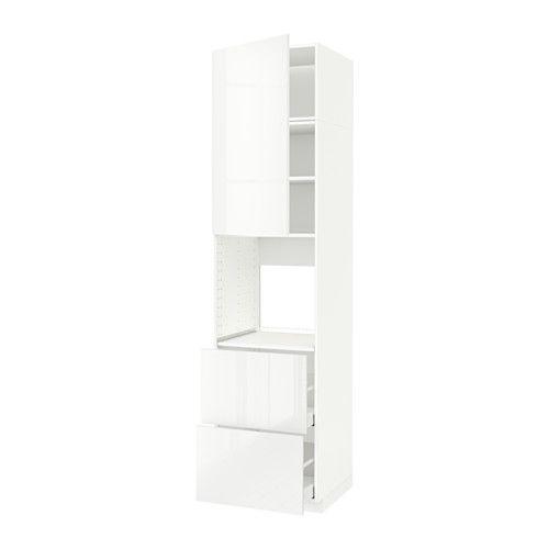 METOD / MAXIMERA Armoire pour four+porte/2 tiroirs IKEA