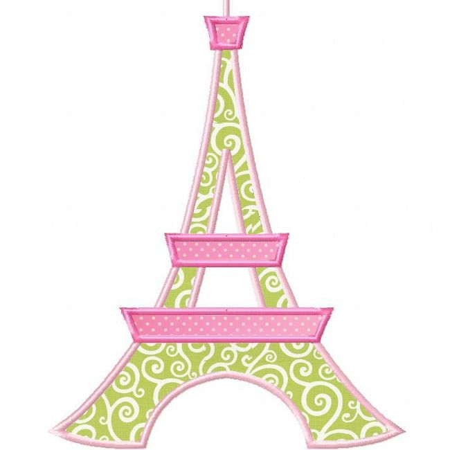 Planet Applique: Paris Pretties Eiffel Tower Applique.  $1.50.  Oh yes!