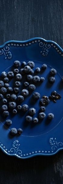 Beautifully blue still life with berries......