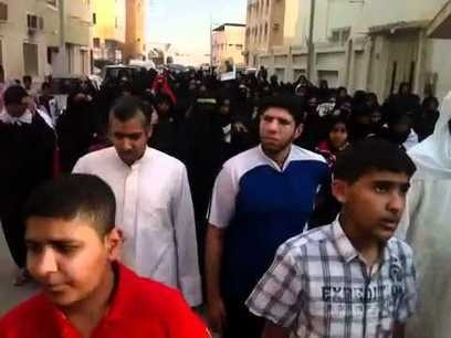 #Bahrain, #Tuesday: #protest heading to #US #embassy - against its #hypocrisy