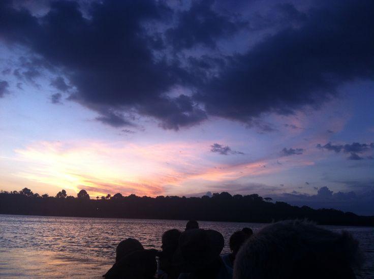 Night closing in on the River Negro, Amazonia