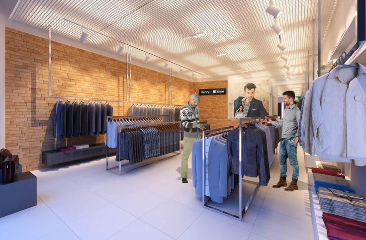 Wizualizacja sklepu odzieżowego
