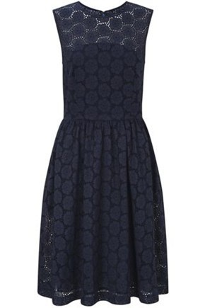 French Connection  ORIENT EYELETS DRESSFrench Connection, Summer Dresses, Lace Pattern, Navy Lace Dresses, Navy Dresses, Navy Eyelet, Graduation Dresses, Oriental Eyelet, Eyelet Dresses
