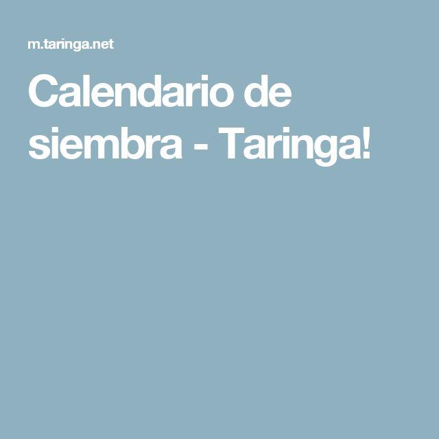 Calendario de siembra - Taringa!