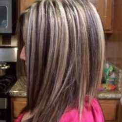 Brownish Red Hair With Blonde Highlights  Good For RoundFaced Person
