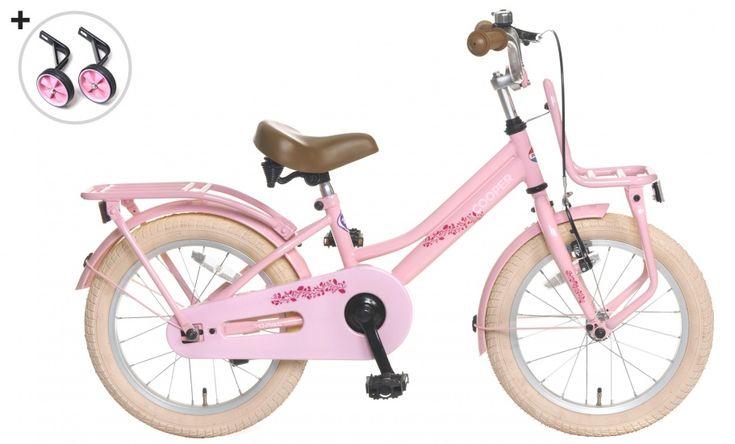 Cooper 16 Inch 25 cm Meisjes Terugtraprem Roze