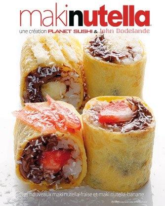 Maki #Nutella! Pannenkoek oprollen, vullen met Nutella + aardbeien, oprollen, geraspte kokos erover en tadaa! #Chocolate #Sushi