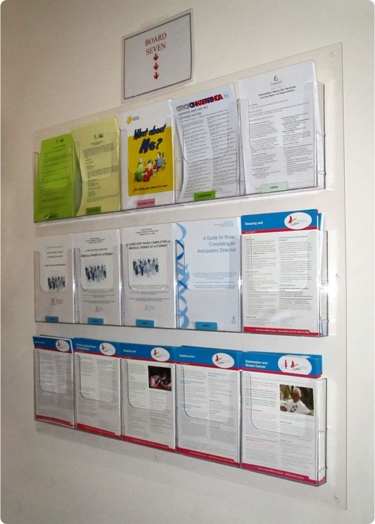 Wall Mount Brochure Rack