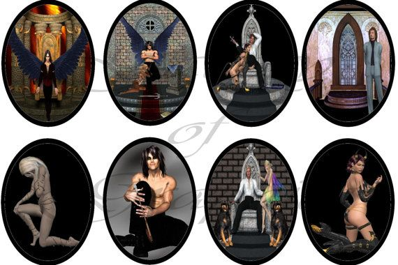 Digital Download  Gothic 1 30x40 Oval Images by DesignsByDownload, $1.50