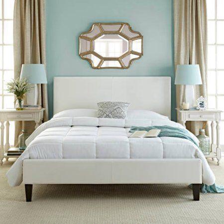 Upholster bed frame white