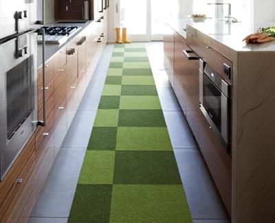 colorful Flor tiles for hallway runner