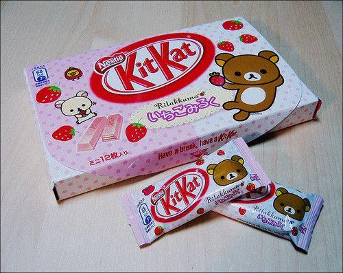 Japanese Kit Kats : Strawberry Milk flavor