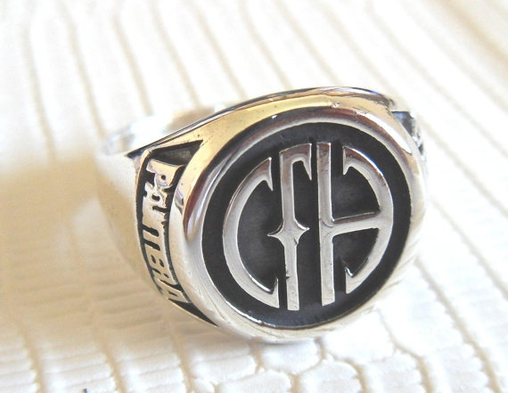 Solid Sterling Silver 925 PANTERA Band Ring by TOPOL925 on Etsy, $54.99