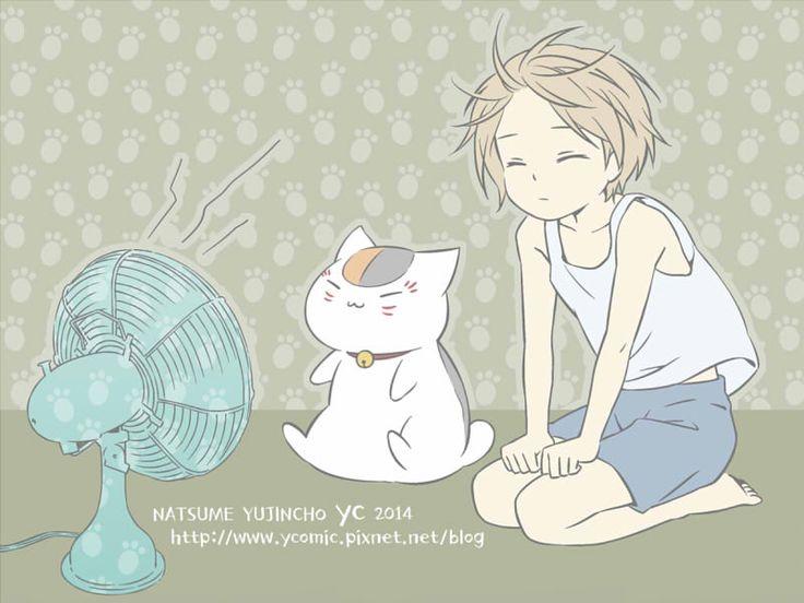 Natsume Yuujinchou - Little Natsume with Nyanko-Sensei