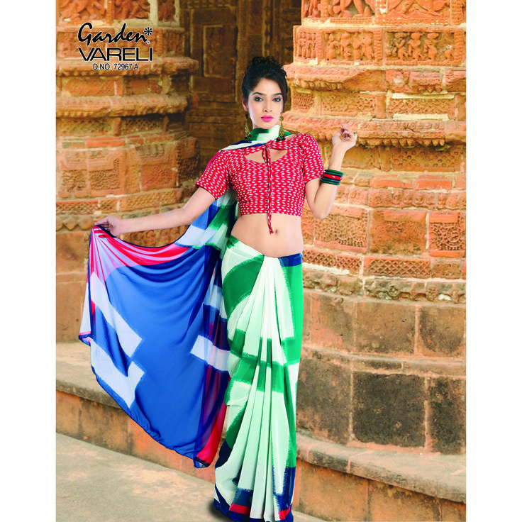 The Biggest and the most unique  Online Shopping for #Sarees #AristoFabric/Texture : Crepe. At The Best Branded on Gardenvareli.com with Smart Price at Rs. 1,004/-