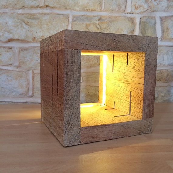 Table Lamp Desk Lamp Modern Light Cube Light Cube Lamp Unusual Lamp Office Gift Desk Gift
