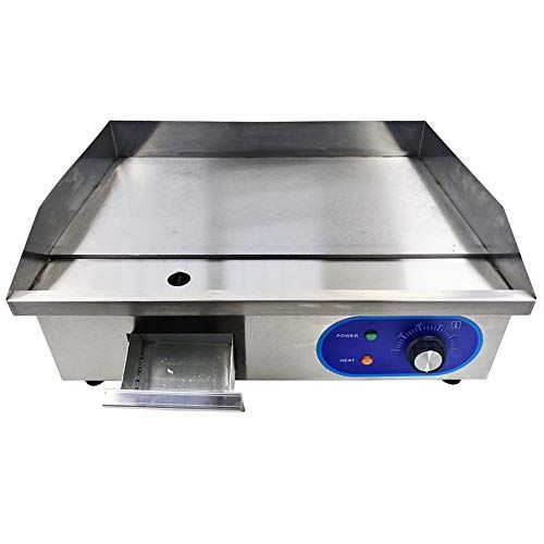 Dulong Commercial Electric Griddle Flat Top Grill Hotplate Kitchen