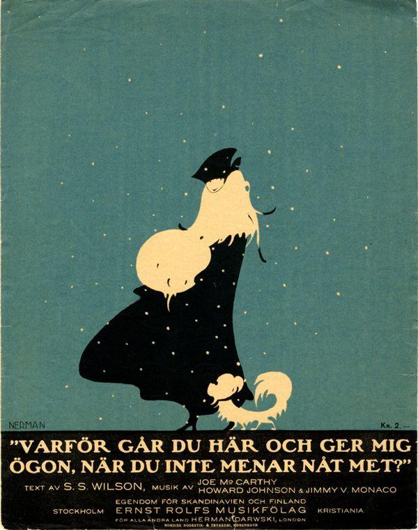 Einar Nerman, from the Images Musicales collection Säg varför går du här och ger mig ögon?, 1916