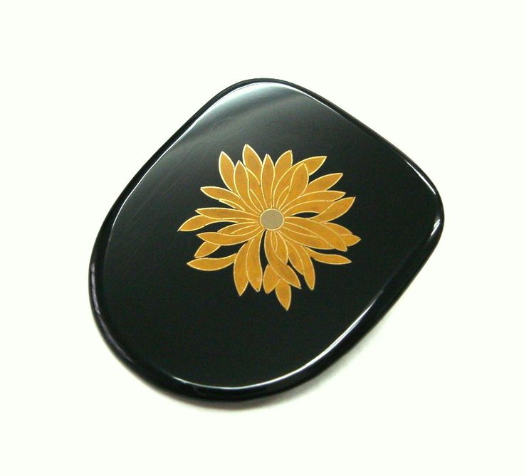 Kawaii Girl Brooch Japanese Art Brooch Japanese Lacquer Cloisonne Urushi Chrysanthemum Asian Gift Anniversary Made In Japan Women by MifuneJAPAN on Etsy