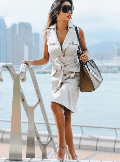 9f4bcef329a4 Karen Millen Stone DA265 Pocket Safari Occasion Smart Shirt Party Dress 10  38 #KarenMillen #ShirtDress #SpecialOccasion