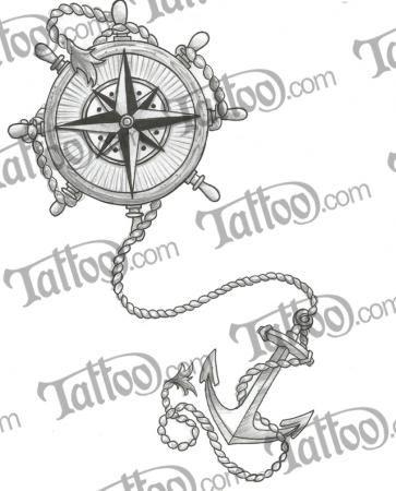 Compass, Anchor, and Wanderlust | Tattoo.com