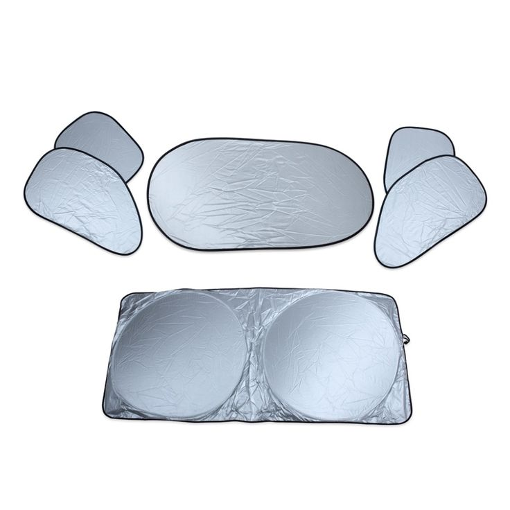 6Pcs/Set Full Set Of 6pcs Car Sun Shade Front Side Rear Window Windowscreen Reflector