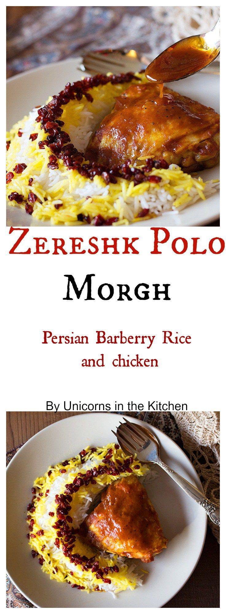 Zereshk polo morgh is a dish full of amazing flavors, including saffron! | Unicorns in the Kitchen