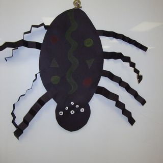 The Itsy Bitsy Spider: Paper Spider For Elementary School Children