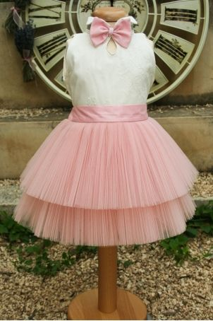 """Elegant ballerina dress for baby girls and toddlers, perfect for christening and other special events: """"PussyKat Ballerina""""."""