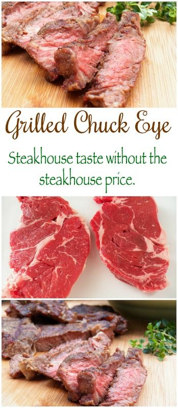 Chuck eye first cut--a tender and flavorful option to ribeye but at a budget-friendly price.