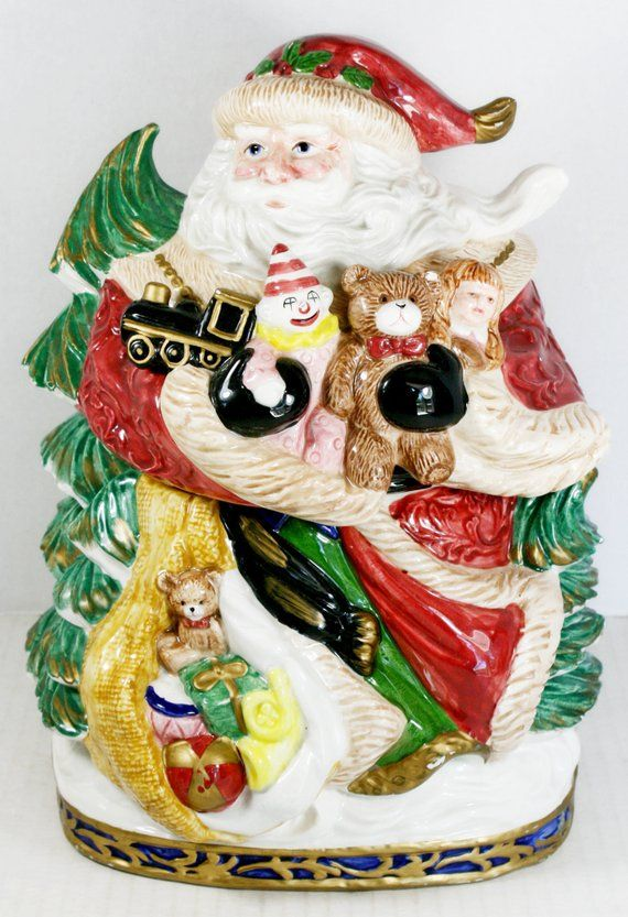 Fitz & Floyd Renaissance Old World Santa Claus Cookie Jar 1994 Retired  Omnibus - Fitz & Floyd Renaissance Old World Santa Claus Cookie Jar 1994