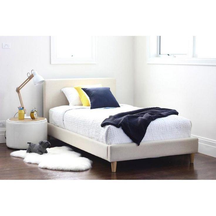 Carlo - tapicerowane łóżko w stylu skandynawskim