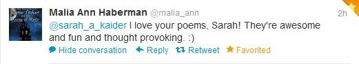 Malia Ann Haberman Compliment