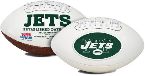 New York Jets Football Full Size Embroidered Signature Series