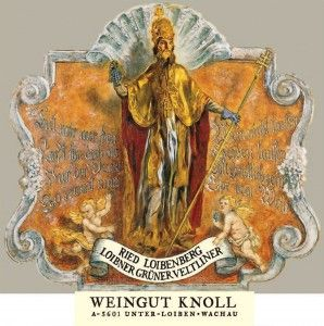 Is that Jesus? Nope, it is the famous Knoll label depicting St. Urban, patron Saint of vineyards and winemakers. Knoll '09s & '11s available at Cream (1/2013). #wine #Austria