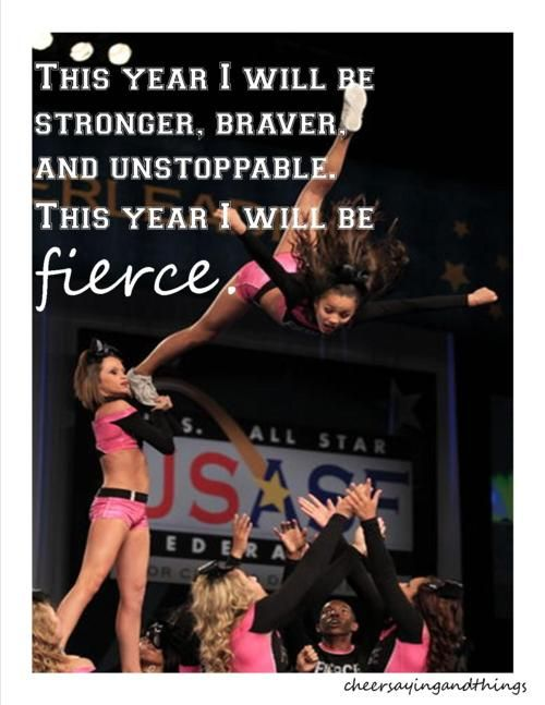 This year I will be stronger, braver, and unstoppable. This year I will be FIERCE. #BeEpic