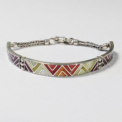 bracelet péruvien, pierres fine et argent 950