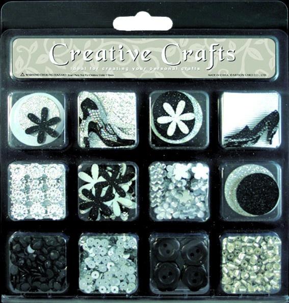 Kit créatif complet d'embellissements scrapbooking, home déco et carterie.