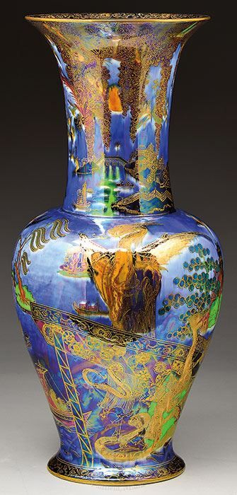 Daisy Makeig-Jones, Wedgwood Fairyland Vase, United States, ca. 1915-1930.